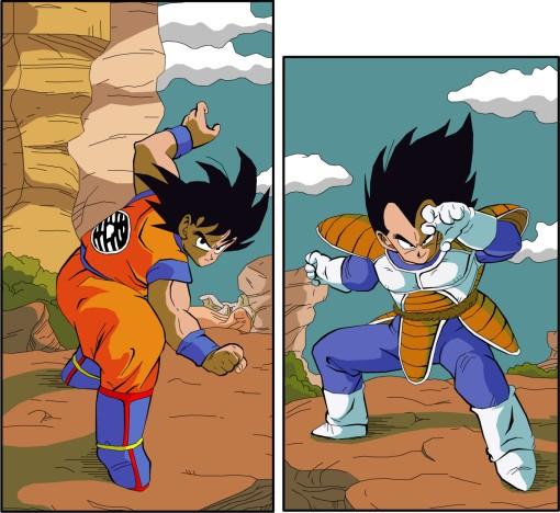 Goku_Vs_Vegeta_by_eggmanrules